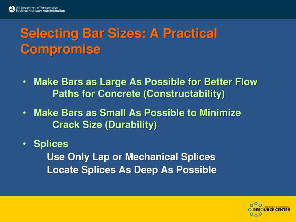 Selecting Bar Sizes: A Practical Compromise
