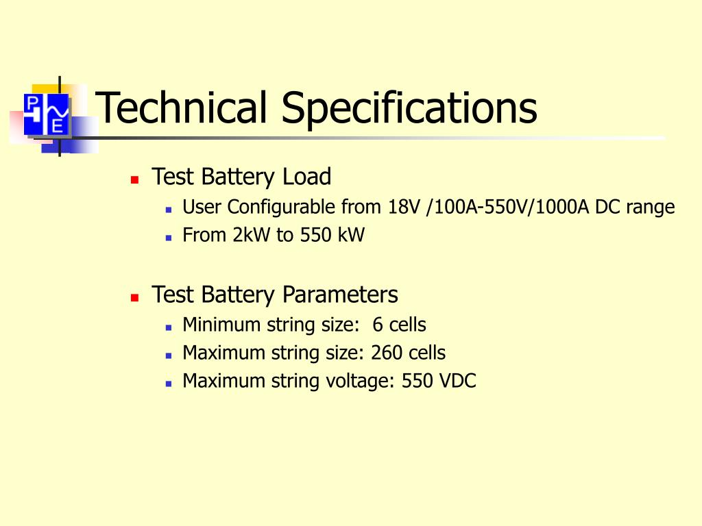 Technical Specifications