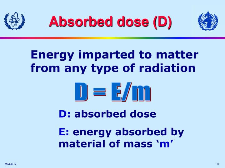 Absorbed dose d