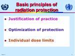 basic p rinciples of r adi ation p rotection