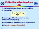 collective effective dose s