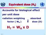 equivalent dose h t