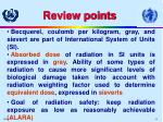 review points
