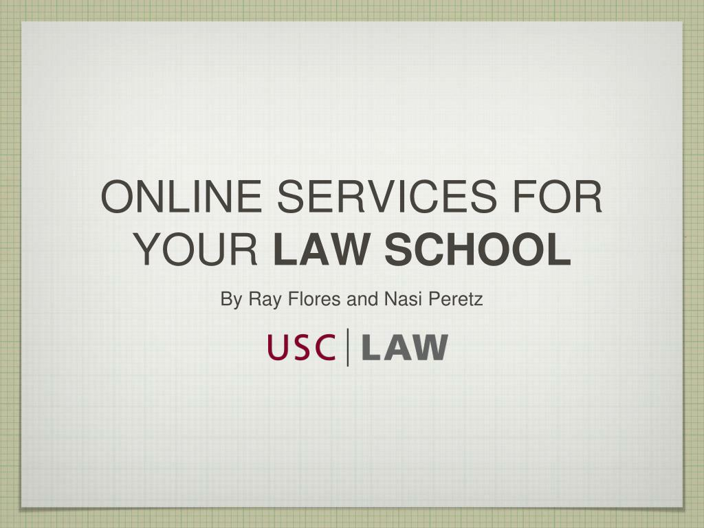 online services for your law school