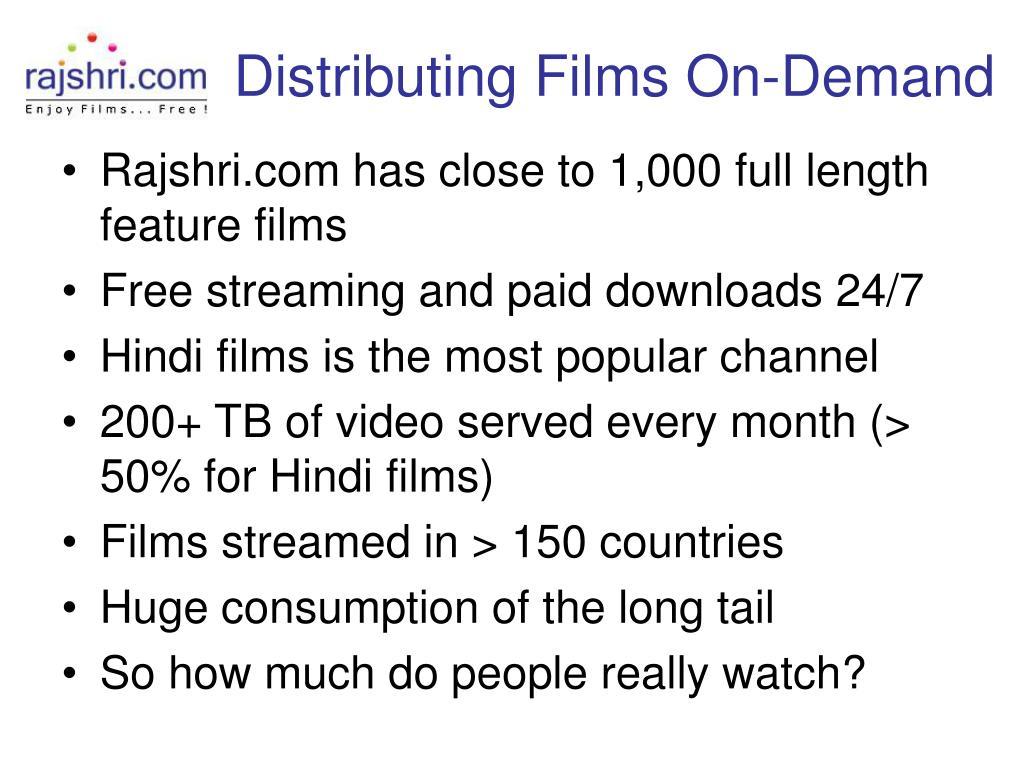 Distributing Films On-Demand