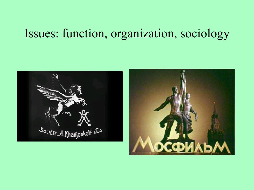 Issues: function, organization, sociology