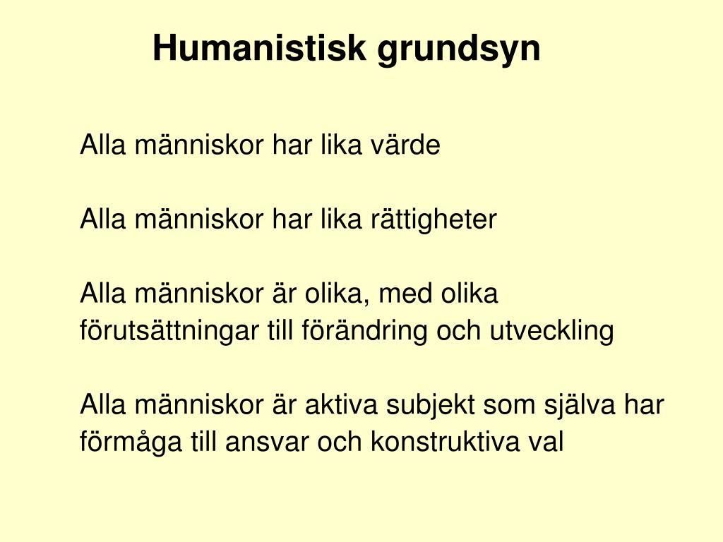 Humanistisk grundsyn