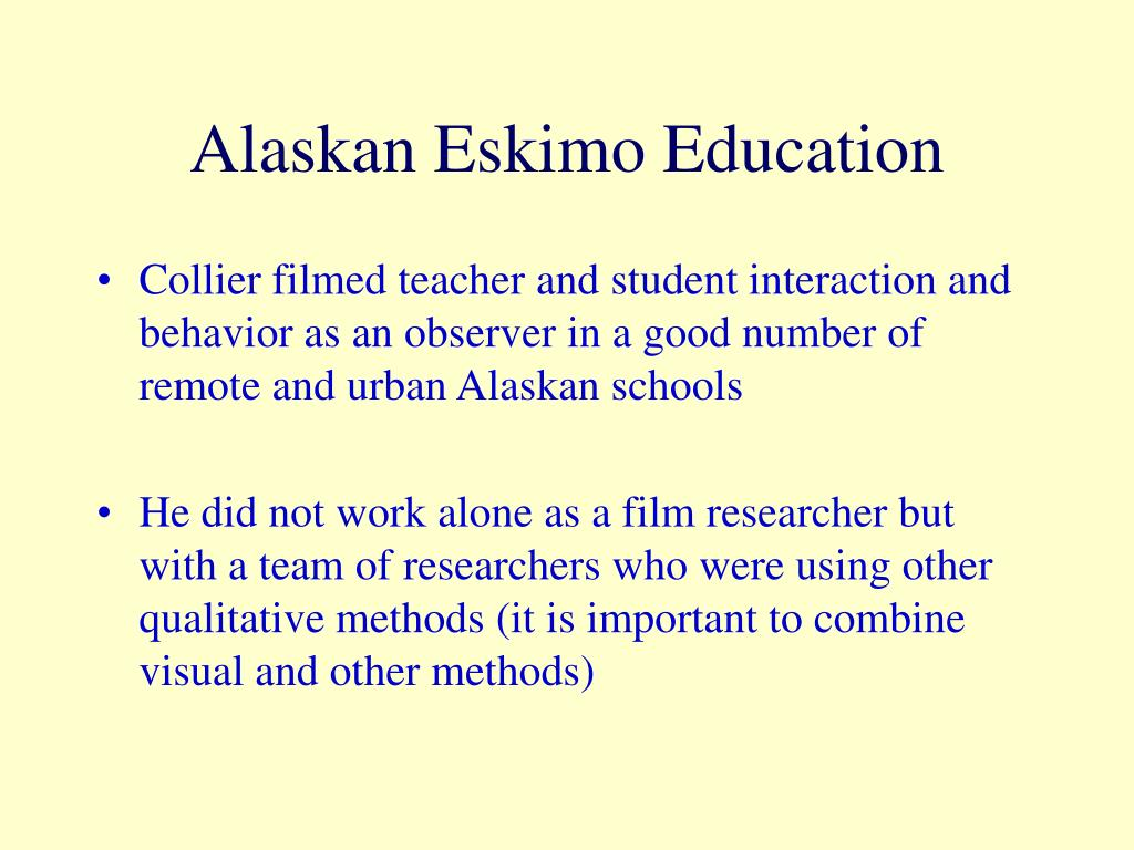 Alaskan Eskimo Education