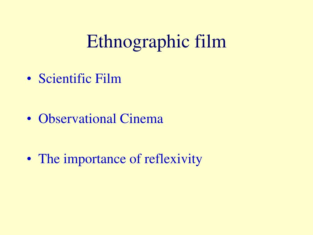 Ethnographic film