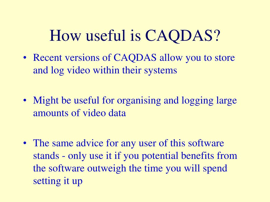 How useful is CAQDAS?