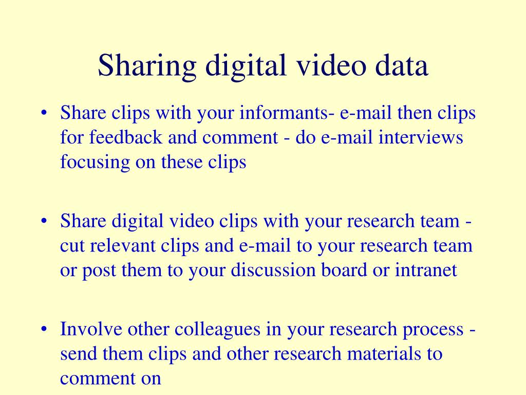 Sharing digital video data