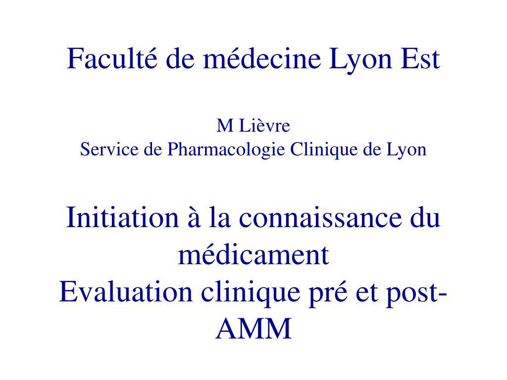 Faculté de médecine Lyon Est