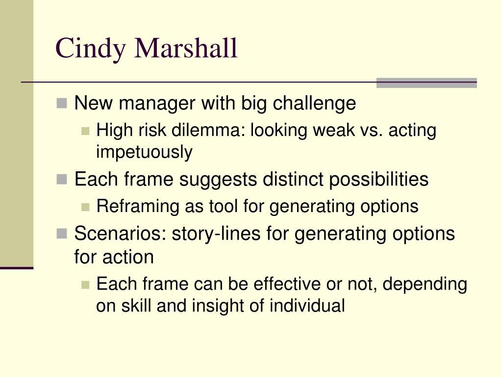 Cindy Marshall