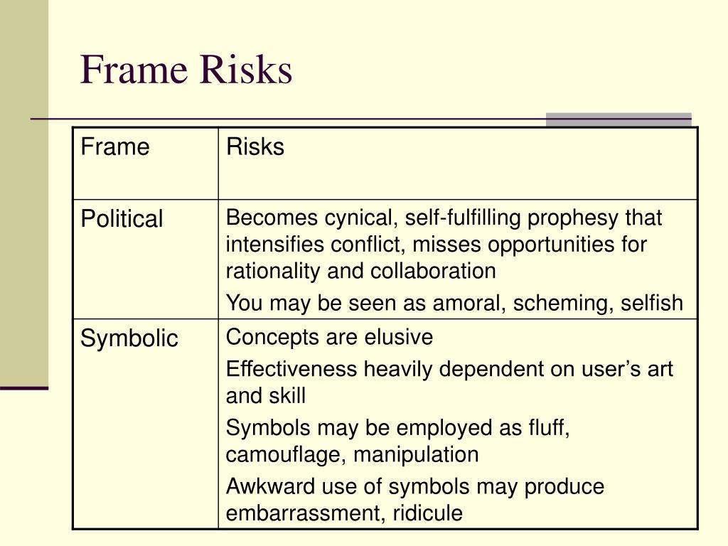 Frame Risks