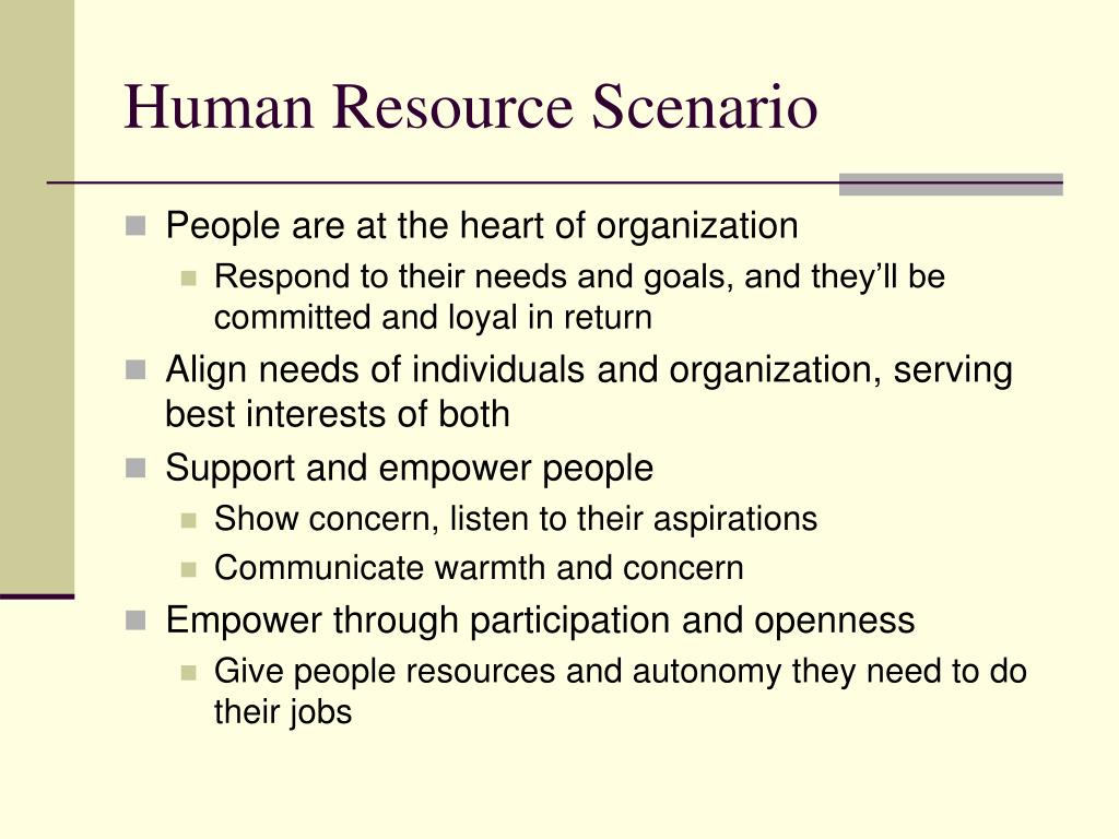 Human Resource Scenario