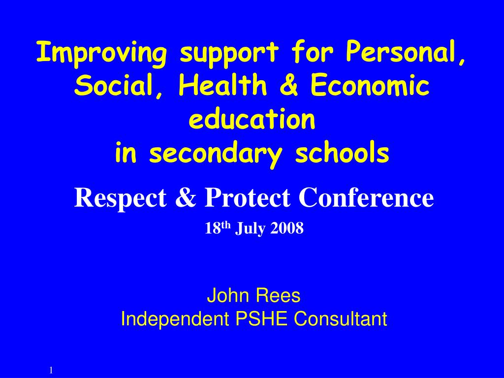 Improving support for Personal, Social, Health & Economic education