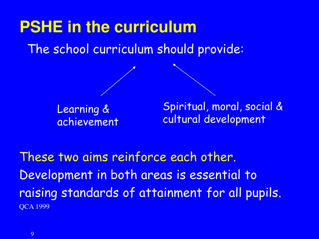 PSHE in the curriculum