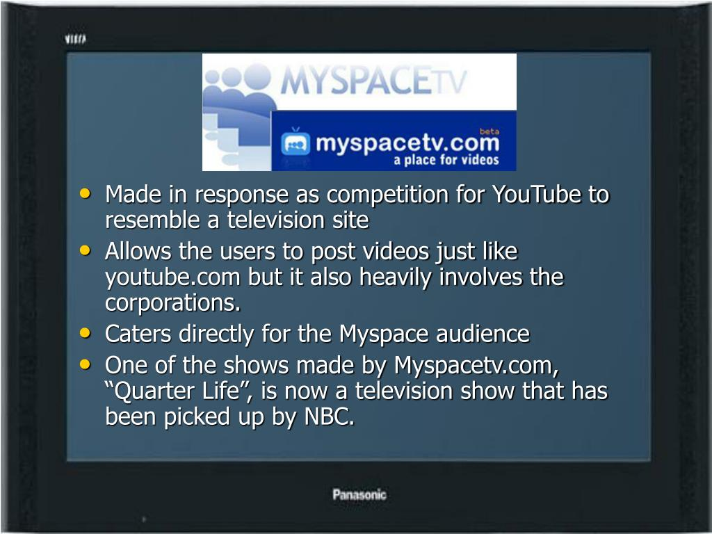 Made in response as competition for YouTube to resemble a television site