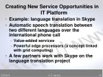 creating new service opportunities in it platform