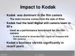 impact to kodak