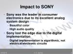 impact to sony
