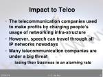 impact to telco