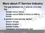 more about it service industry