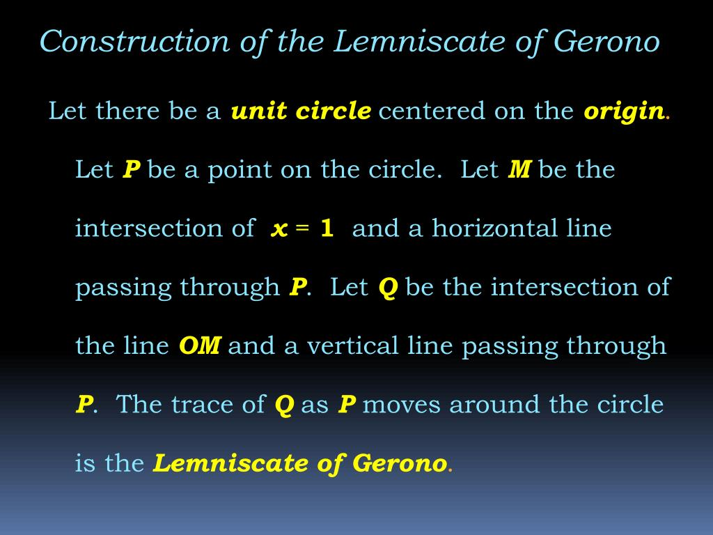 Construction of the Lemniscate of Gerono