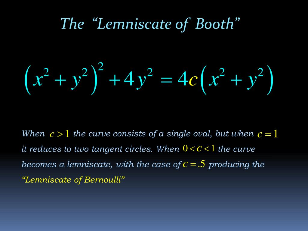 "The  ""Lemniscate of  Booth"""
