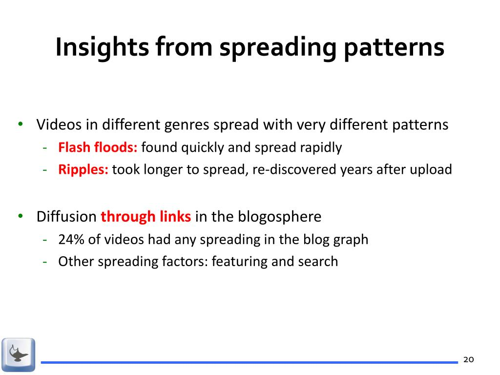 Insights from spreading patterns