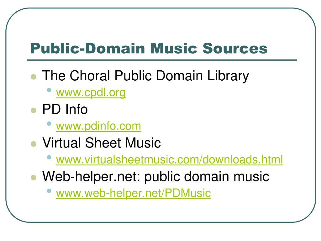 Public-Domain Music Sources