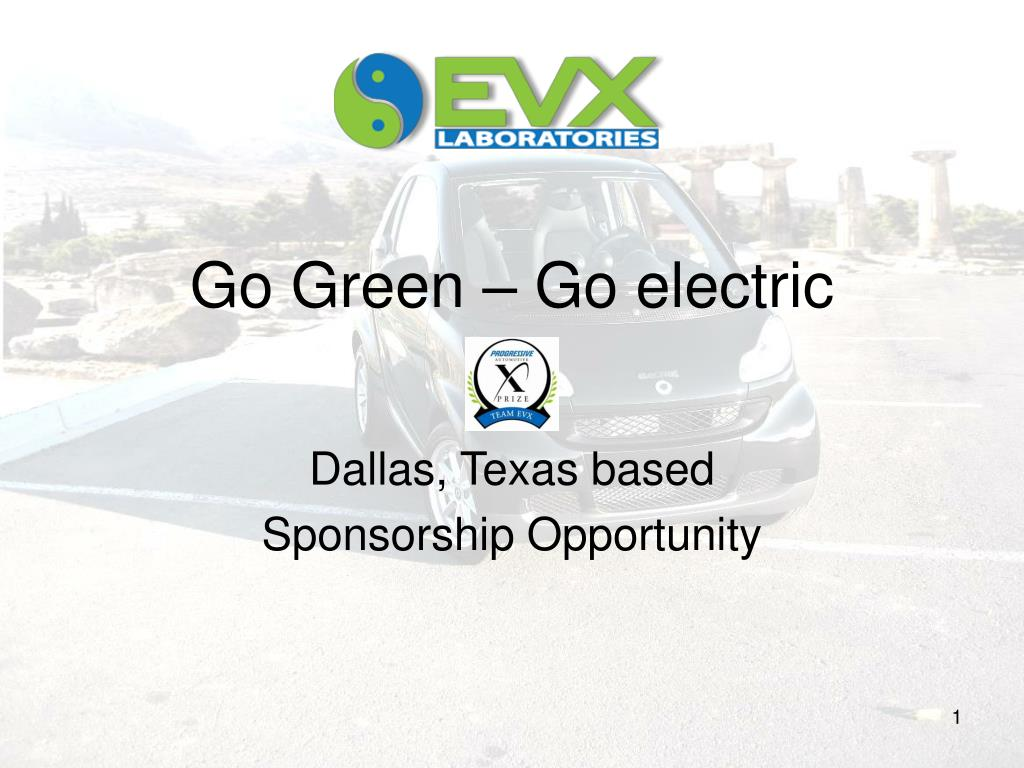 Go Green – Go electric