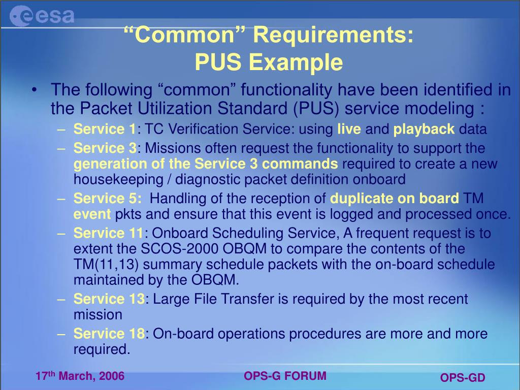 """Common"" Requirements:"