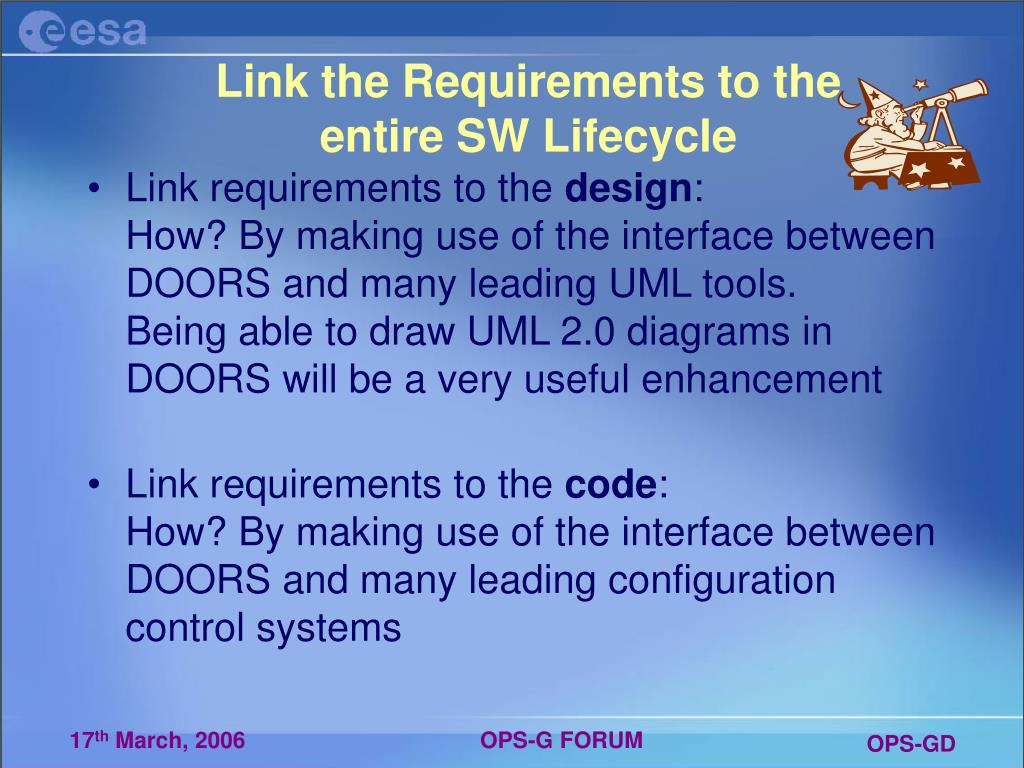 Link the Requirements to the