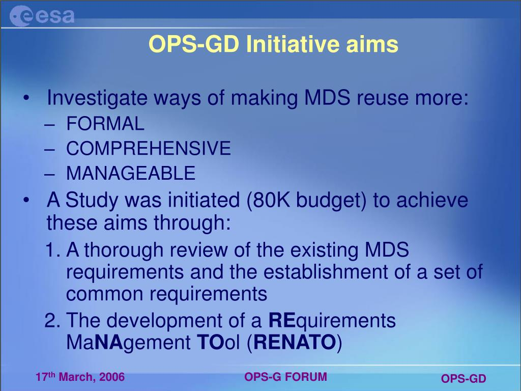 OPS-GD Initiative aims