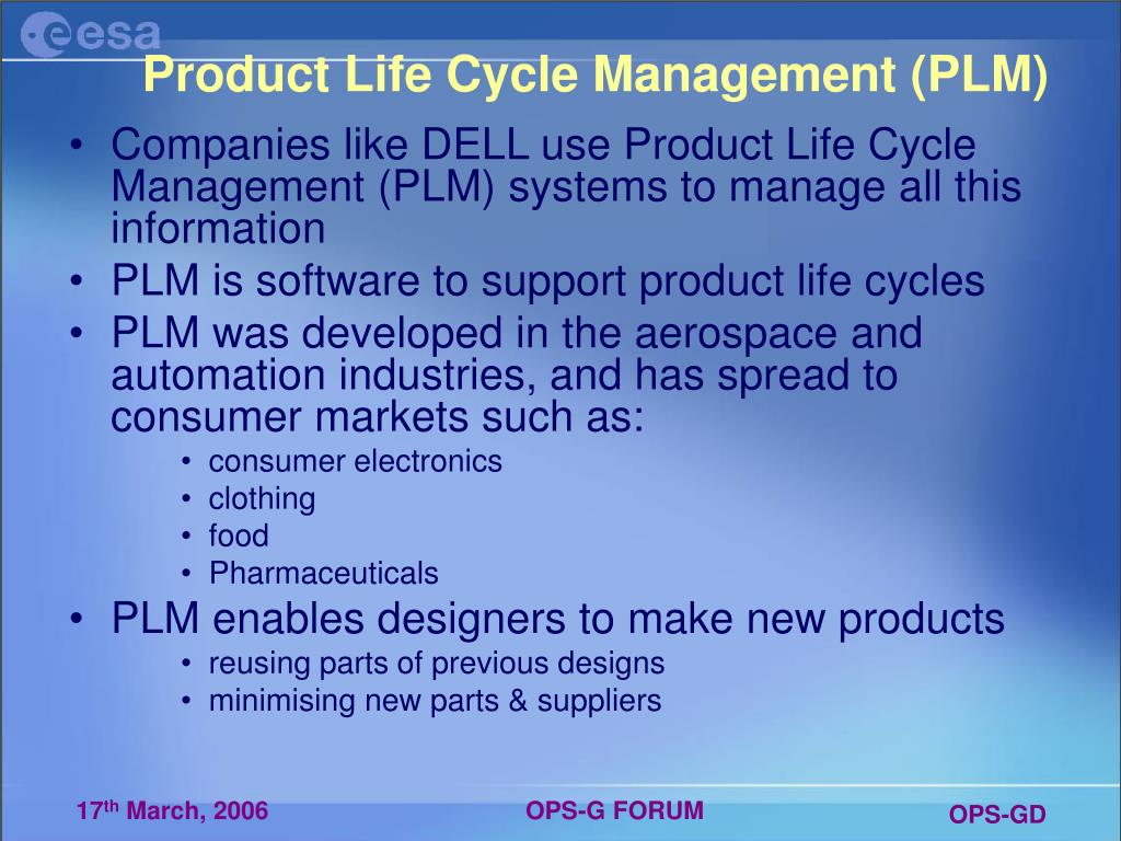 Product Life Cycle Management (PLM)