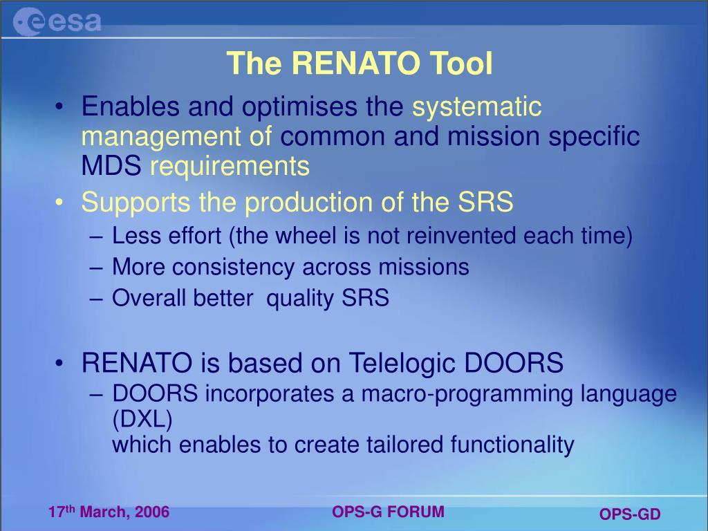 The RENATO Tool