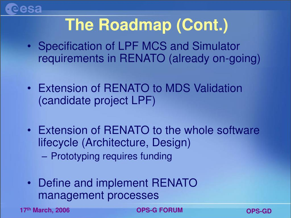 The Roadmap (Cont.)