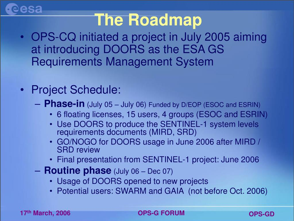 The Roadmap