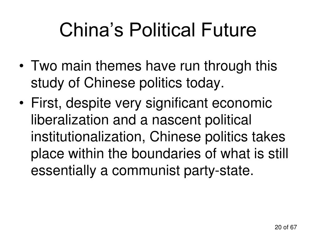 China's Political Future