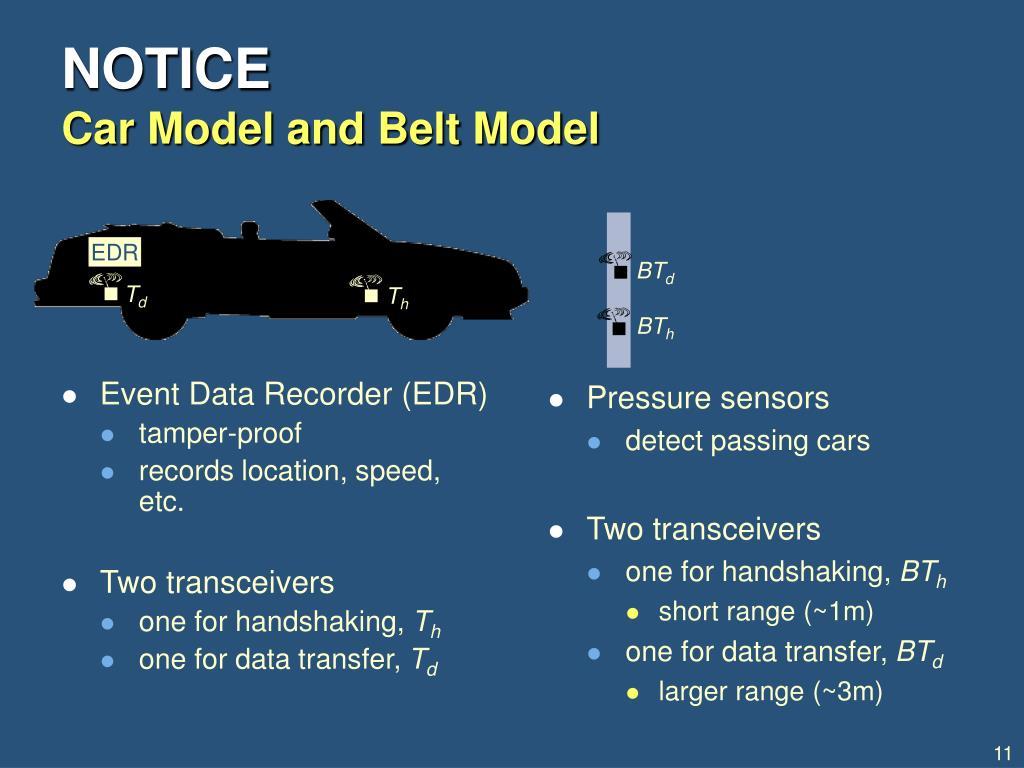 Event Data Recorder (EDR)