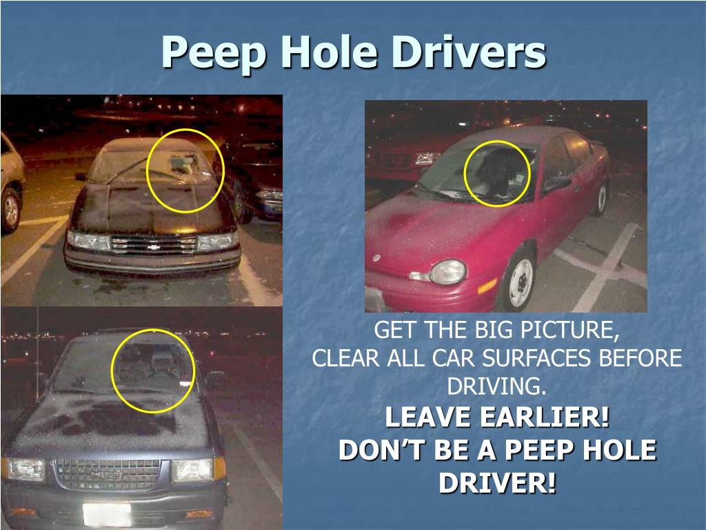 Peep Hole Drivers
