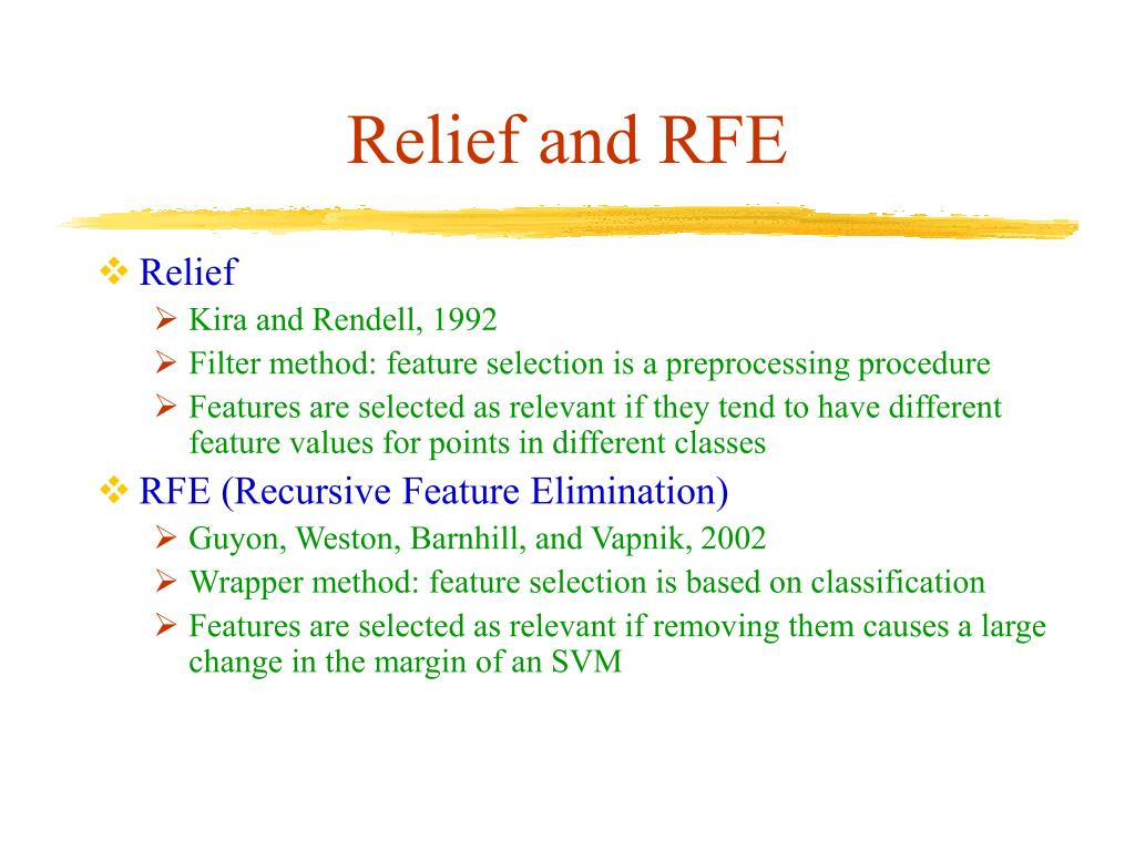 Relief and RFE