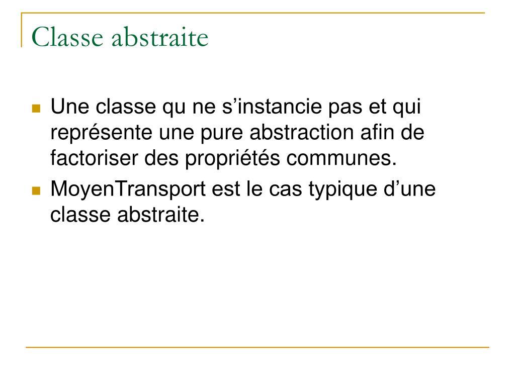 Classe abstraite