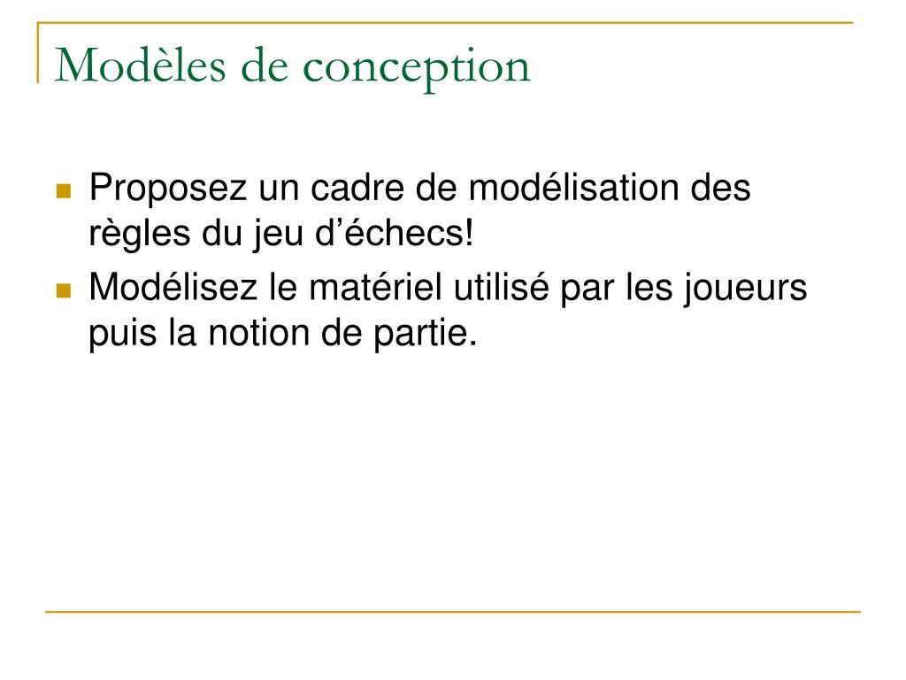 Modèles de conception