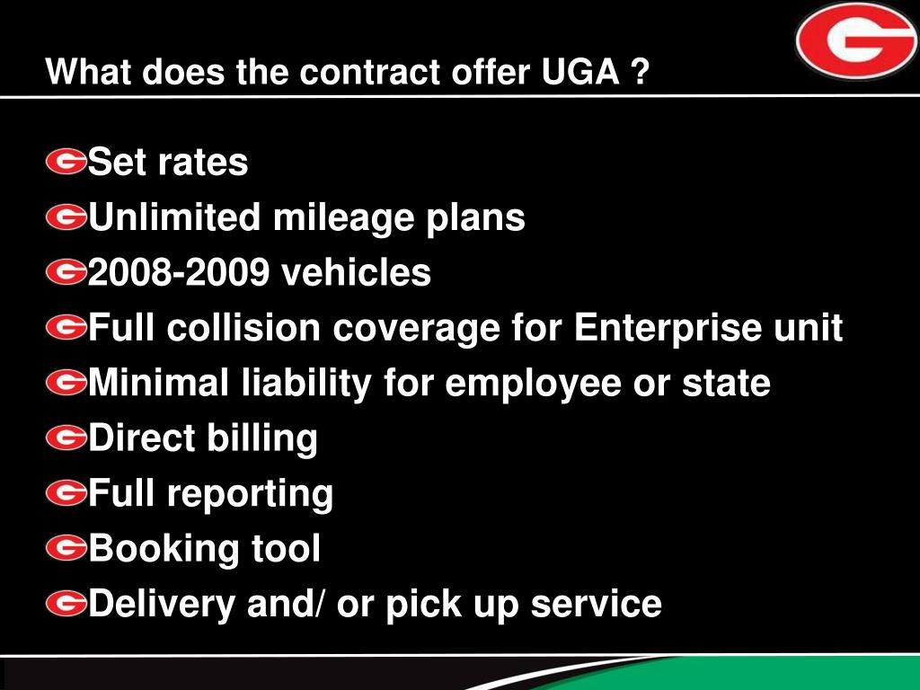 What does the contract offer UGA ?