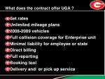 what does the contract offer uga