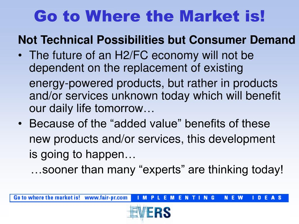 Not Technical Possibilities but Consumer Demand