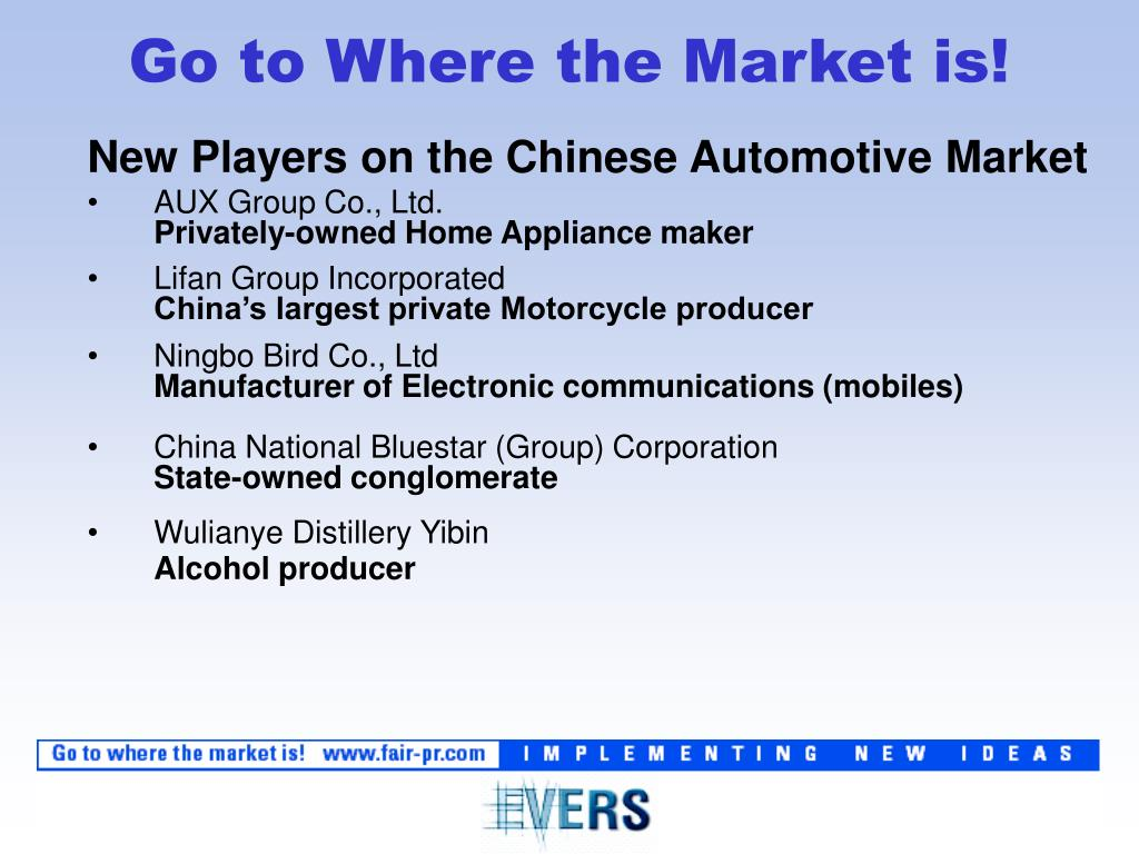 New Players on the Chinese Automotive Market