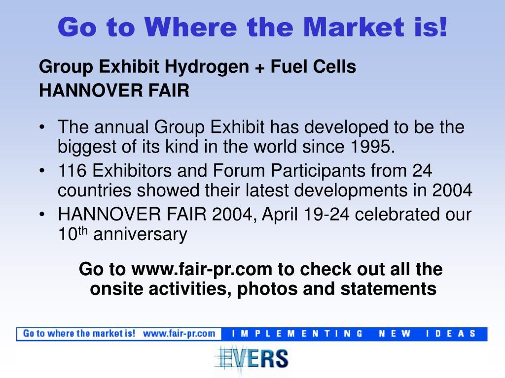 Group Exhibit Hydrogen + Fuel Cells